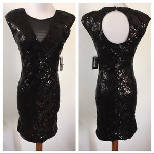 Charlotte Russe Black Sequins BodyCon Dress